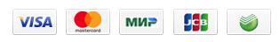 Visa, Mastercard, JCB, MIR